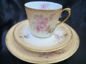 Beautiful Limoges - Raymond Laporte - Blush ivory tea trio